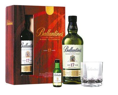 百齡罈17年調和式蘇格蘭威士忌禮盒。 圖/保樂力加台灣提供