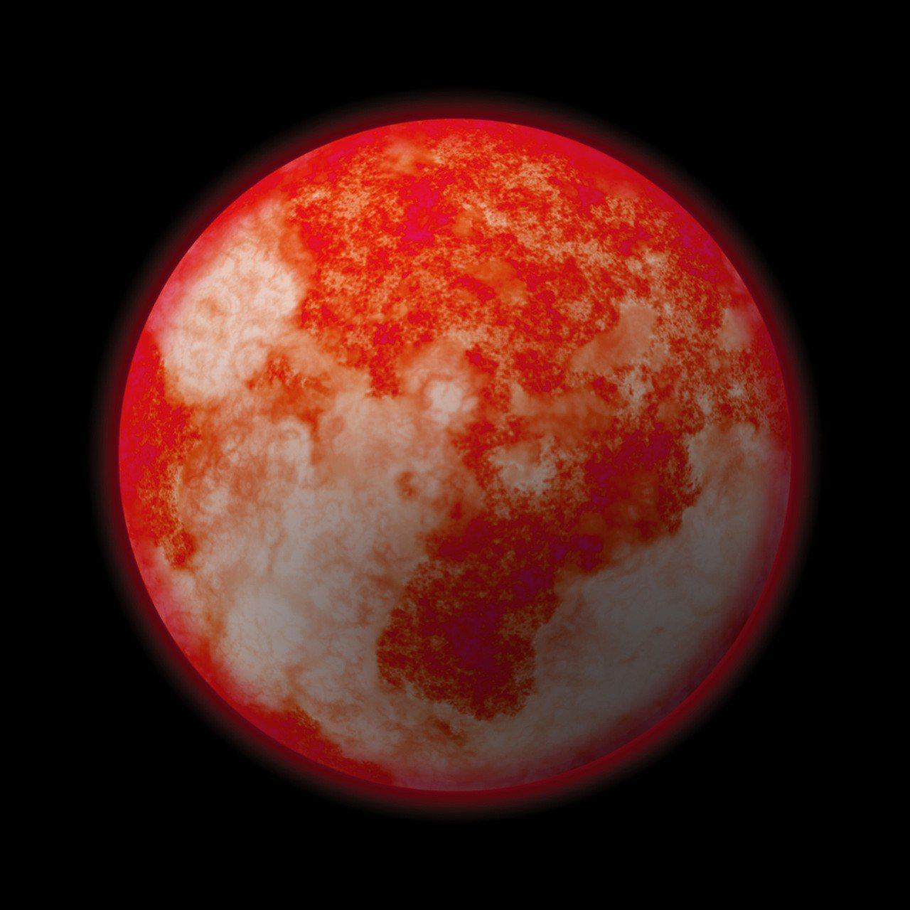 示意圖。火星共有8個冰河位置受到侵蝕裸露在外,一些淺到僅位於地表下1公尺,有的深...