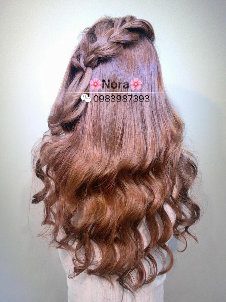 髮型創作/Nora (諾拉❤)。圖/HairMap美髮地圖提供