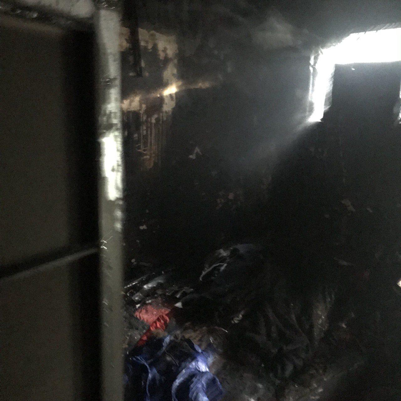 消防隊研判起火處為臥房,燃燒面積約9坪,詳細案發原因仍待釐清。記者陳雕文/翻攝