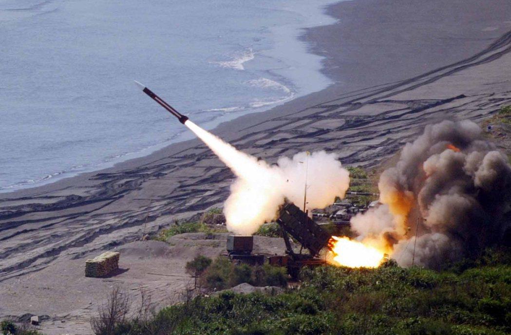 漢光演習中發射愛國者飛彈。聯合報系資料照