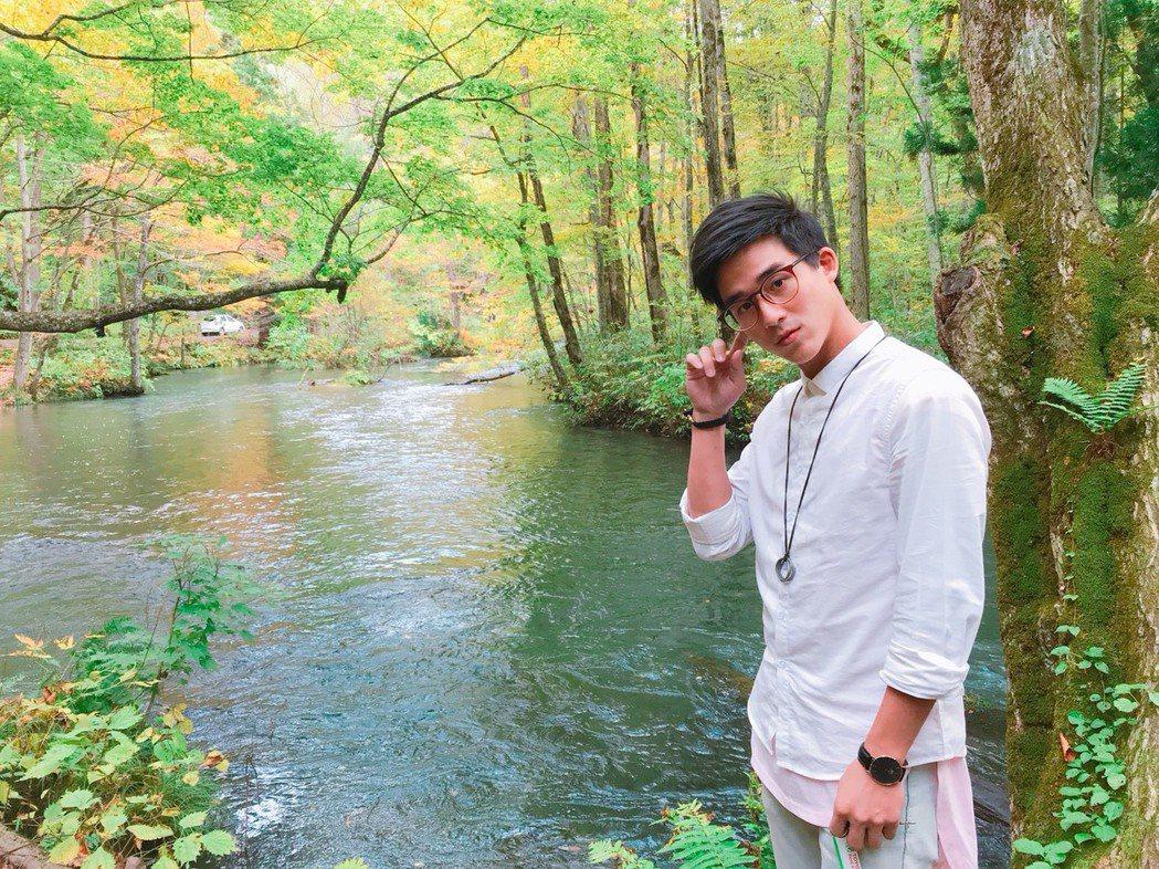 李博翔拍完一年多的「小賀」到日本東北旅遊。圖/金熙提供