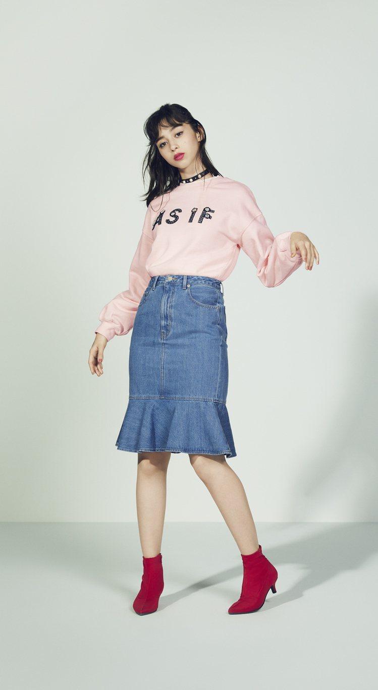GU 2018春夏女裝「CREATIVE ROMANTIC」系列。圖/GU提供