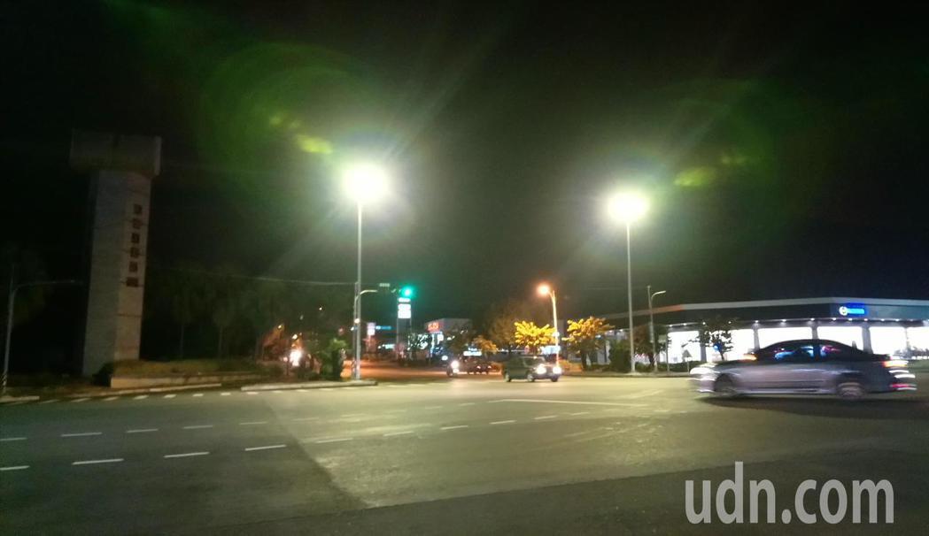 嘉義縣民雄工業區前路口, 是轄區肇事排名第1路段。 記者卜敏正/攝影