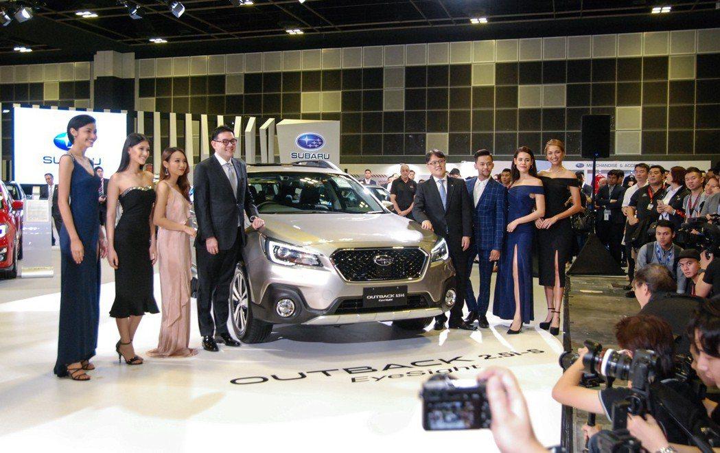 在台灣搶先上市後,Subaru也於(11)日前於新加坡車展發表Outback Eyesight、XV Eyesight車型。 記者林鼎智/攝影