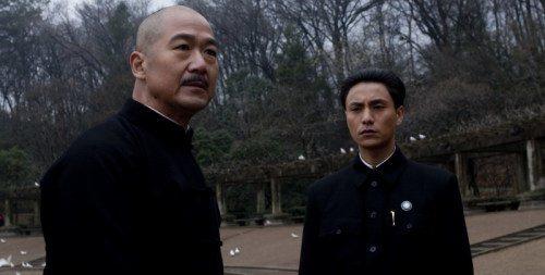 陳坤在「建國大業」中扮演蔣經國。左為飾演蔣介石的張國立。圖/摘自youtube