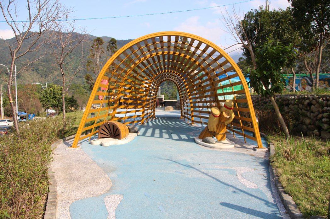 桃園市復興區「羅浮泰雅故事公園」,充滿原民泰雅文化風。記者許政榆/攝影