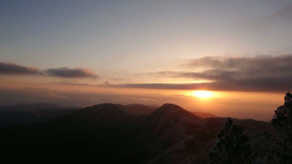 太平山今天日出見晴了。圖/林務局羅東林區管理處提供