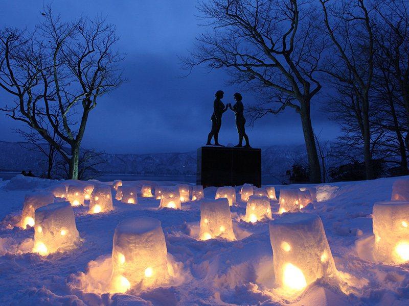 十和田湖冬物語。圖/公益社団法人 青森県観光連盟提供