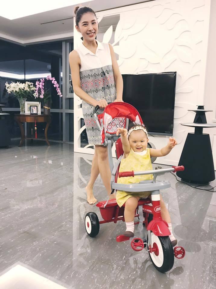 詹乃蓁和小孩  圖/伊林提供
