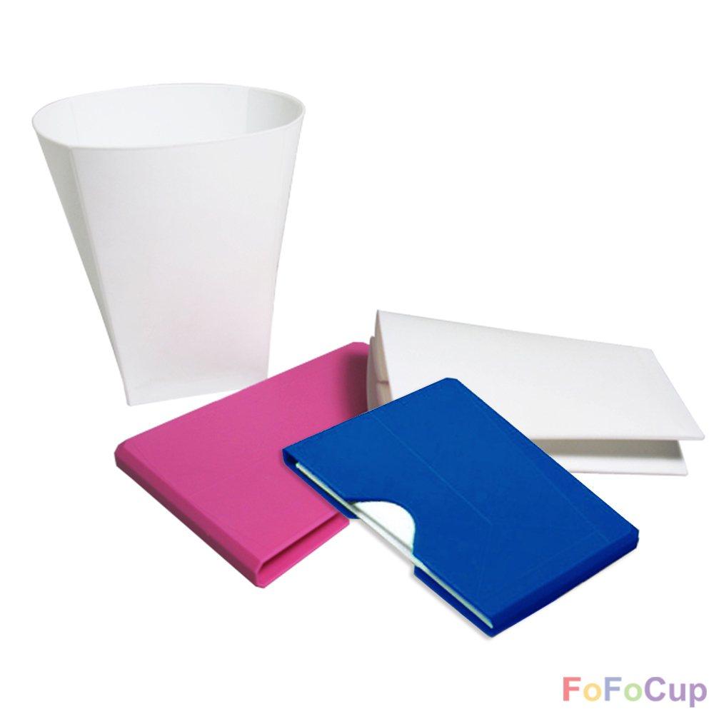 FOFOCUP折折杯可將杯子摺疊後隨身攜帶。圖/有.設計uDesign提供提供