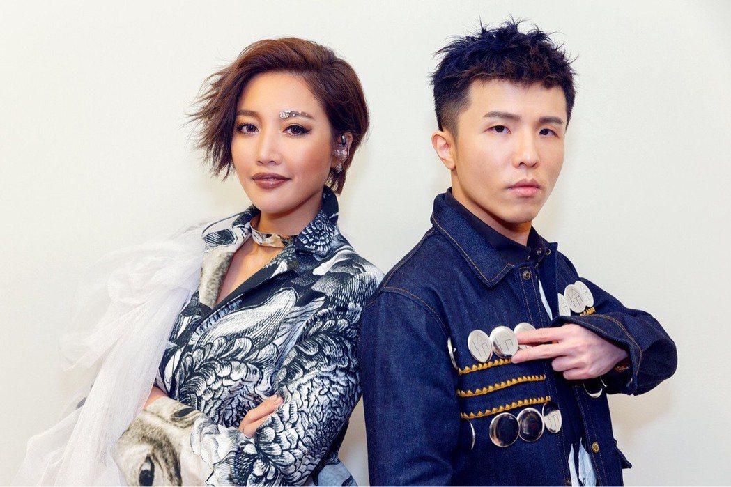 A-Lin(左)演唱會請來小宇當嘉賓。圖/索尼音樂提供