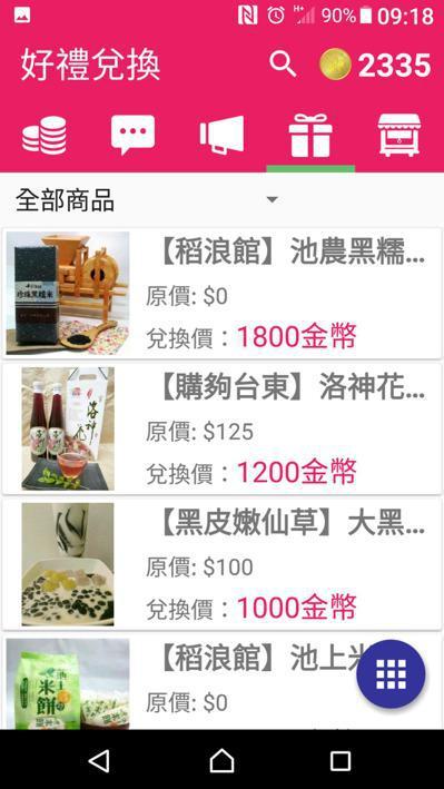 虛擬貨幣「台東金幣」,民眾用它可折抵購物或住宿消費。 記者羅紹平/翻攝
