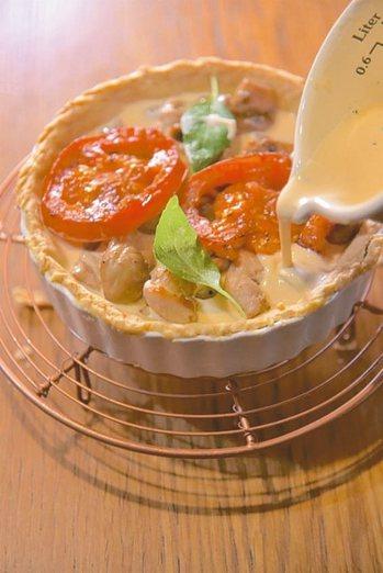 番茄蘑菇雞肉鹹塔 寫樂出版/提供