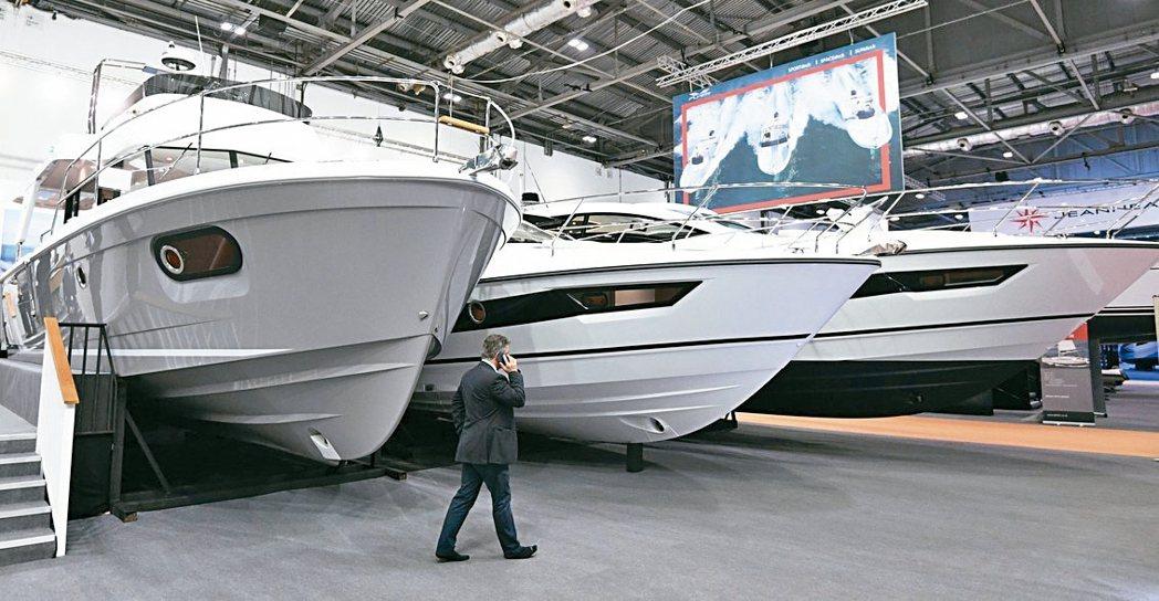 倫敦遊艇展10日至14日舉行。 歐新社