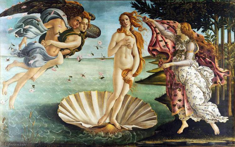 Sandro Botticelli的知名畫作《維納斯誕生(The Birth o...
