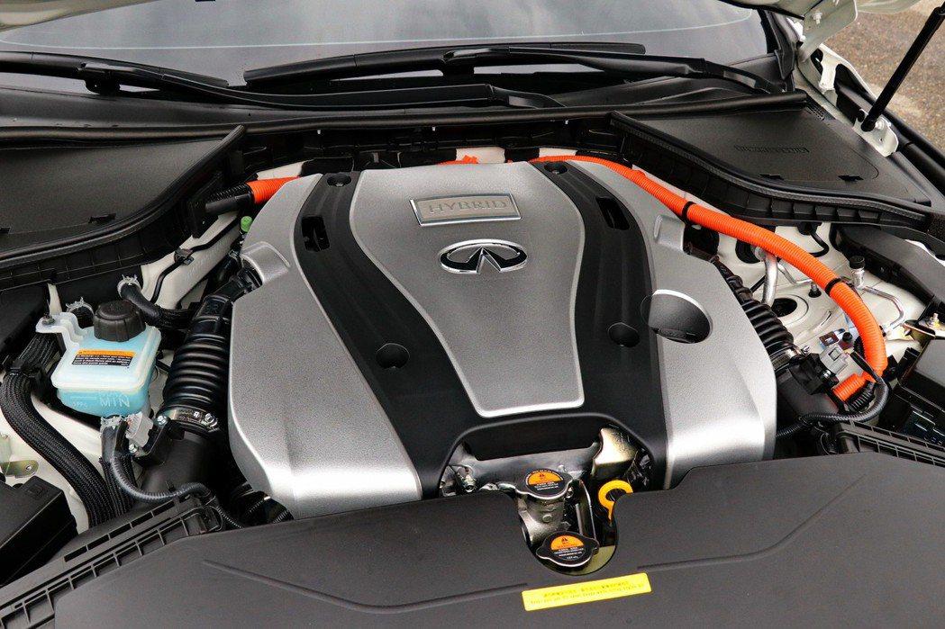 Q50 3.5 HYBRID BLUE SPORT搭載3.5升V6自然進氣引擎,...