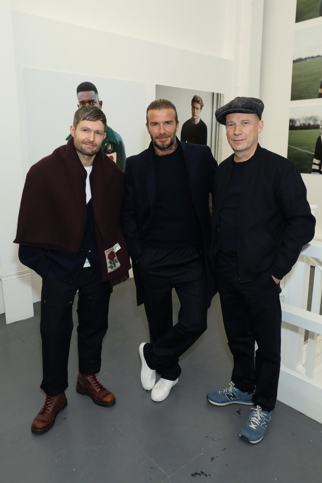 Kent & Curwen創意總監Daniel Kearns(左)、大衛貝克漢(...