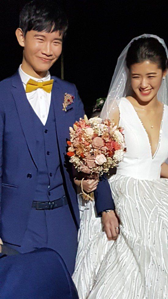 呂冠緯(左)與劉安婷。記者王彩鸝/攝影