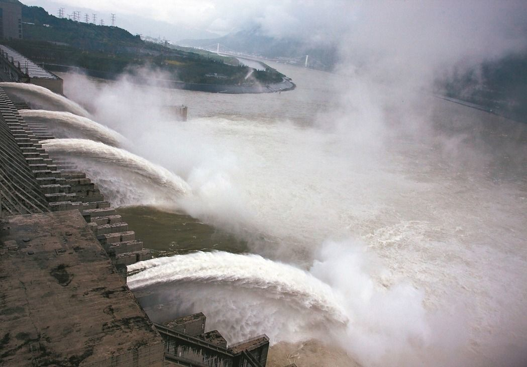 三峽大壩。新華社