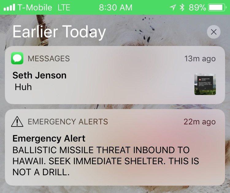 夏威夷緊急部門誤觸發送紐,傳送飛彈攻擊警告簡訊,在夏威夷引發恐慌。 圖/美聯