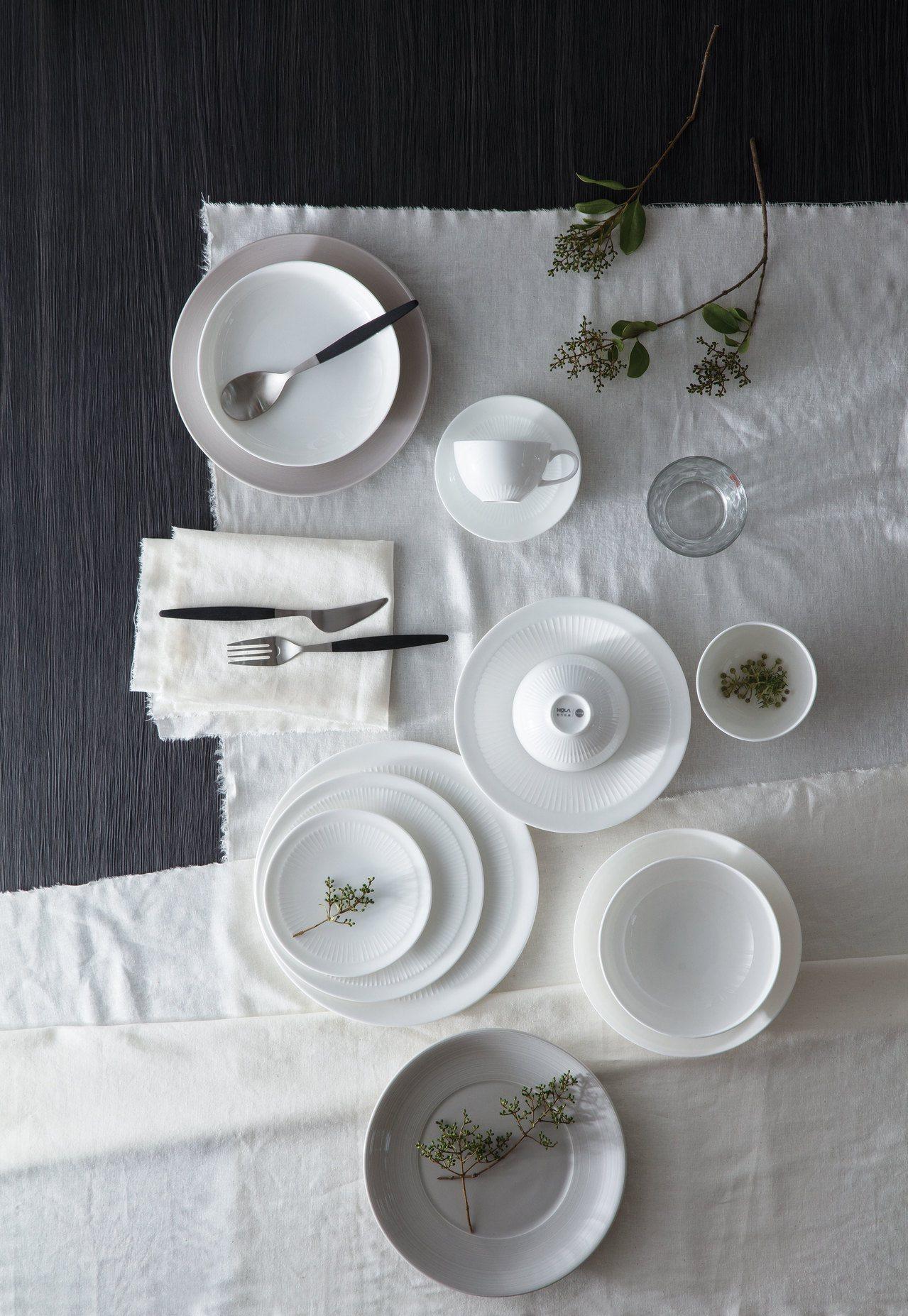 HOLA緻白骨瓷系列,榮登2017年最熱銷餐具。圖/HOLA提供