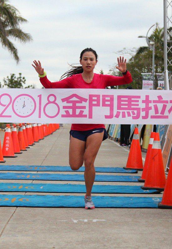 世大運國手游雅君在女子半程馬拉松完成四連霸。 圖/大漢集團提供
