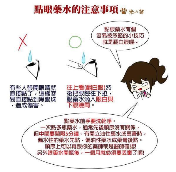 眼藥水該怎麼點?圖/白袍藥師米八芭臉書