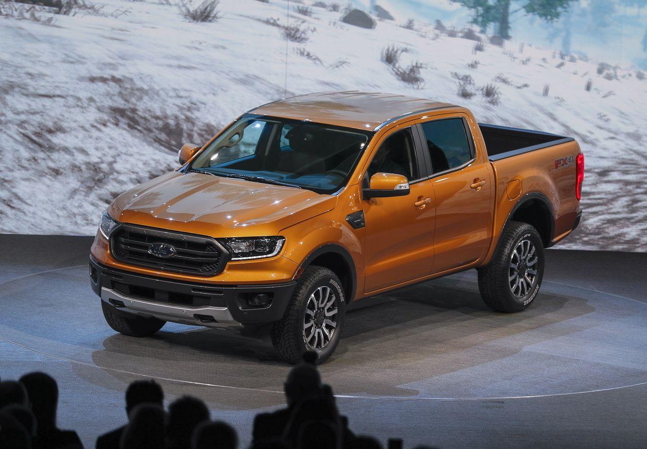 Ford Ranger 2019年款在底特律車展亮相。 歐新社