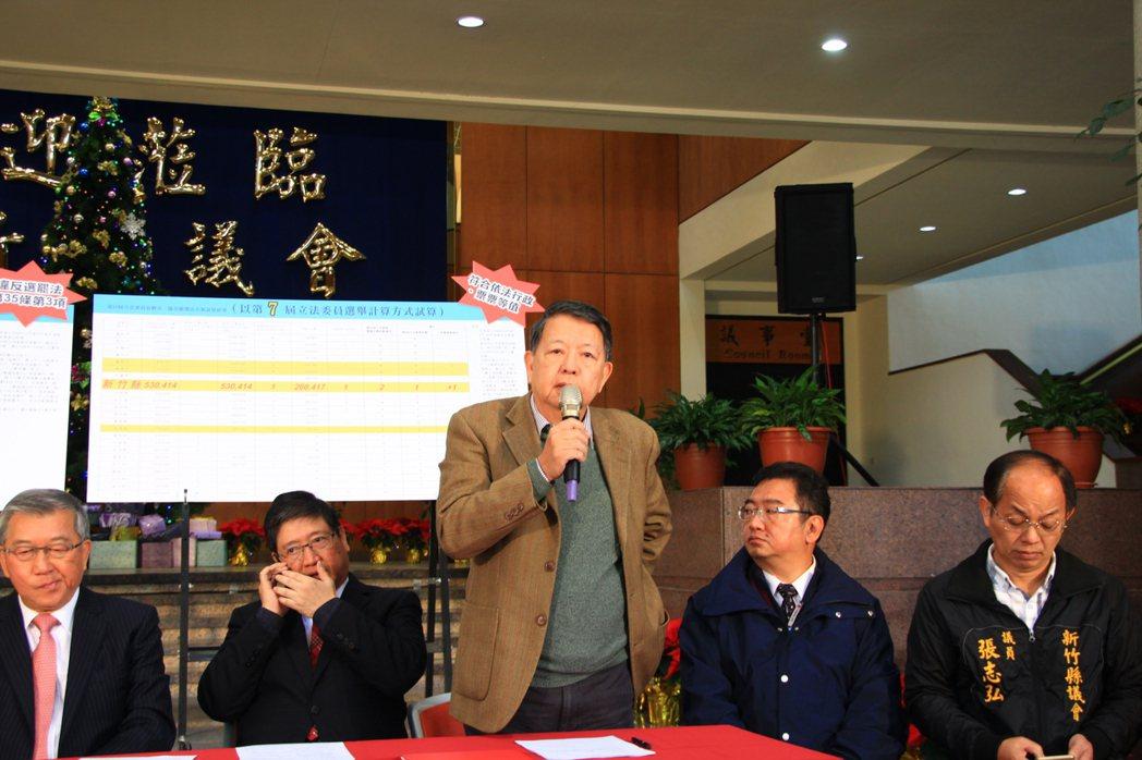 台灣科學工業園區同業公會的秘書長張致遠也出席表示科技界的看法。記者郭政芬/攝影
