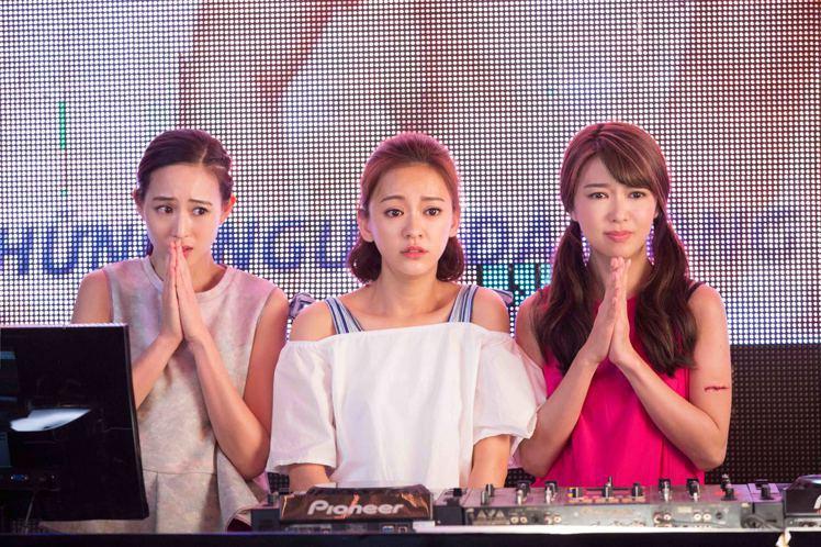 張鈞甯(左起)、陳意涵及薛凱琪新片「閨蜜2」終於定檔。圖/華映提供