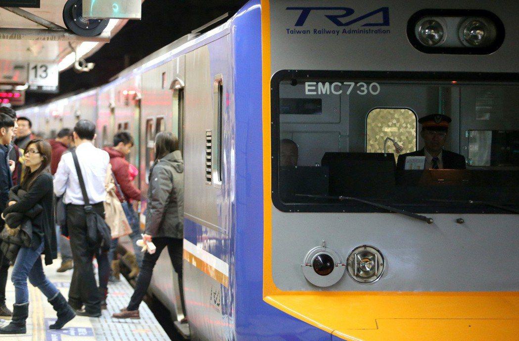 台鐵列車。本報資料照/記者黃威彬攝影