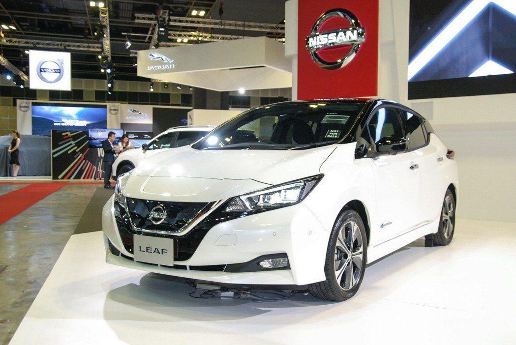 第二代 Leaf 純電動車在歐洲市場具有不錯的銷售表現。 記者林鼎智/攝影