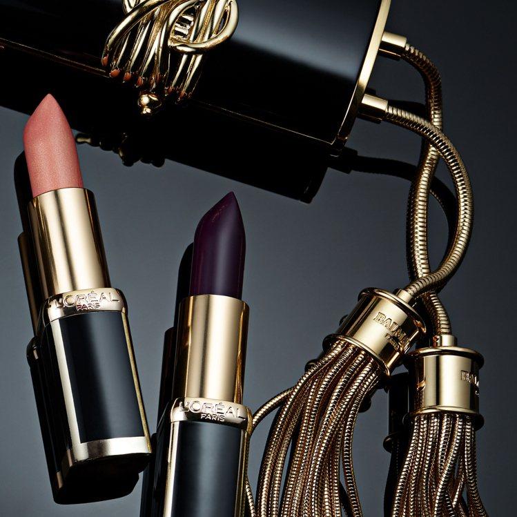 巴黎萊雅X BALMAIN限量聯名訂製唇膏時尚訂製系列不論包裝或選色都經典時髦。...