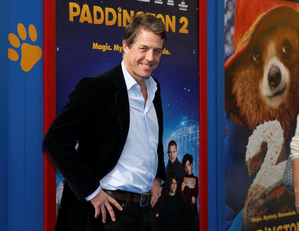 休葛蘭6日出席新片「柏靈頓熊熊出任務」( Paddington 2)的洛杉磯特映
