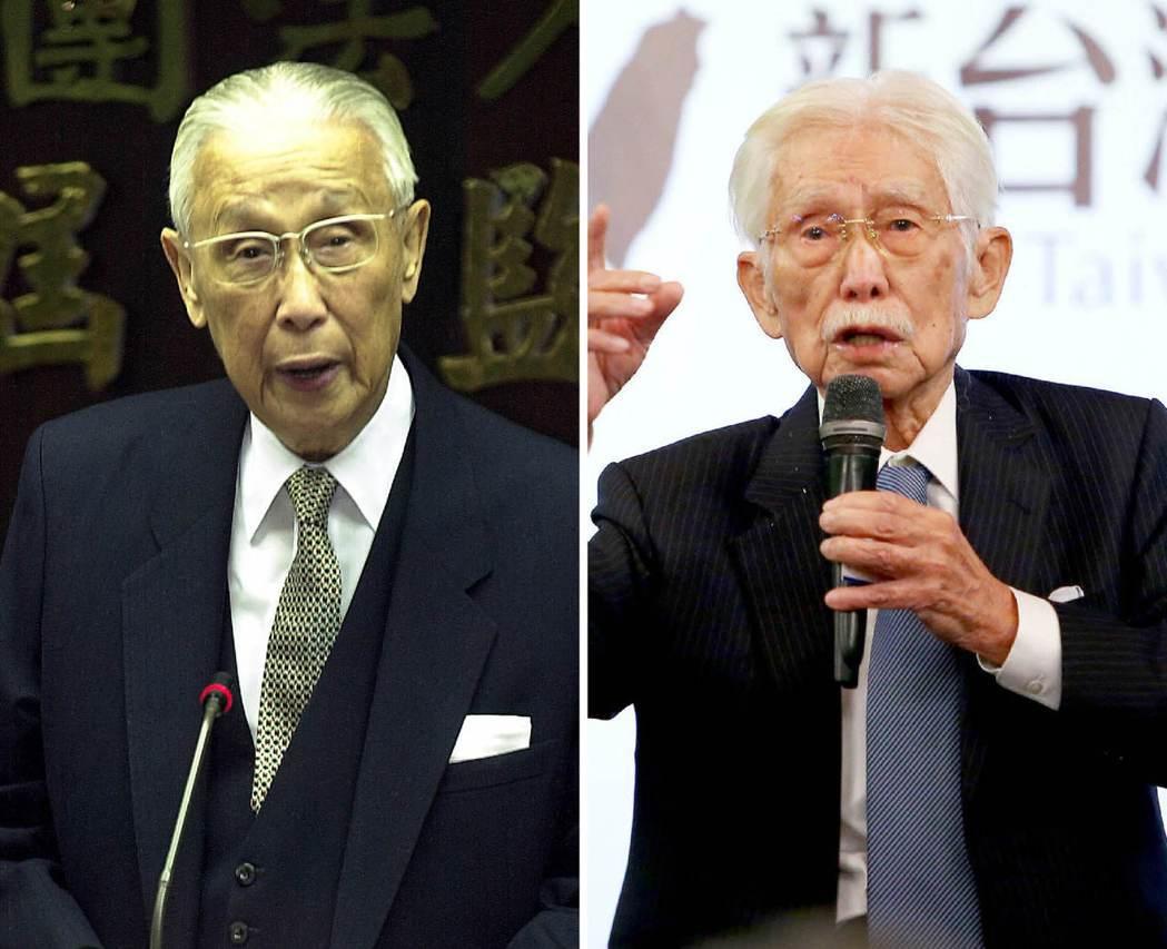 辜振甫(左圖)、辜寬敏(右圖)。 圖/聯合報系資料照片