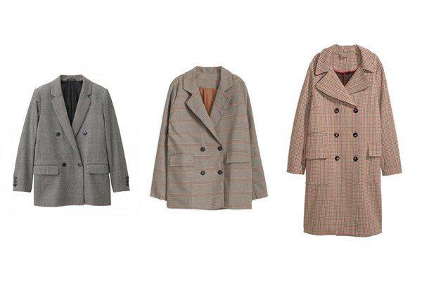 GU.女裝雙排扣外套 NT1290、貓咪曬月亮.復古格紋西裝外套,TW780、H...