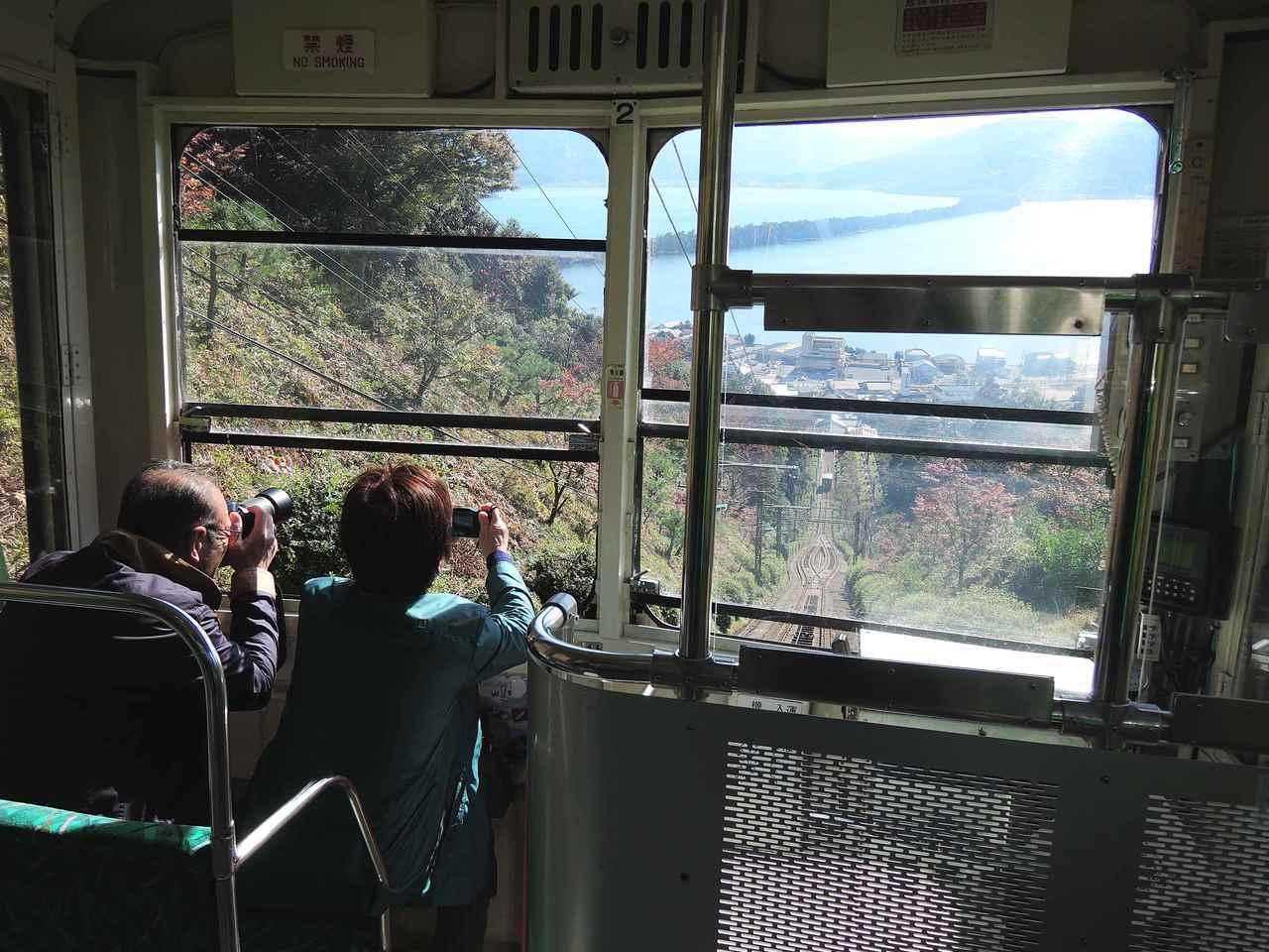 搭乘纜車欣賞天橋立美景。圖/有行旅提供。