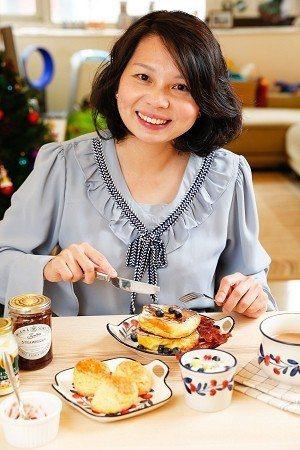 李靜潔喜愛為家人準備一頓豐富健康的早餐。 (攝影/楊智仁)