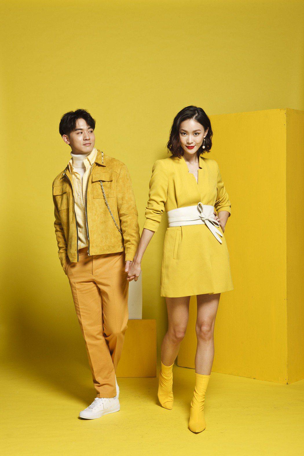 鍾瑶(右)與「小樂」吳思賢用輕鬆、詼諧的方式詮釋姊弟戀。圖/三立提供