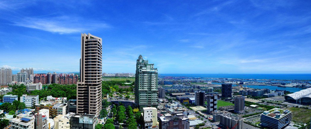 「福懋悅然」位於中山二路上,可遠眺高雄港。 圖片提供/福懋建設