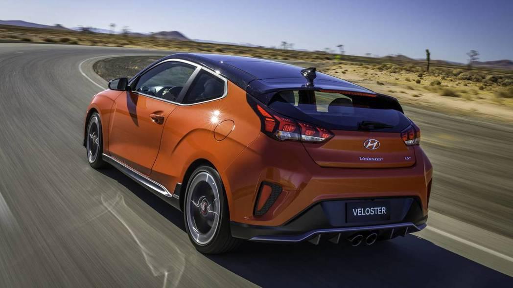 全新Hyundai Veloster車尾變化較大。 摘自Hyundai