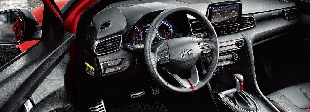 全新Hyundai Veloster 內裝。 摘自Hyundai