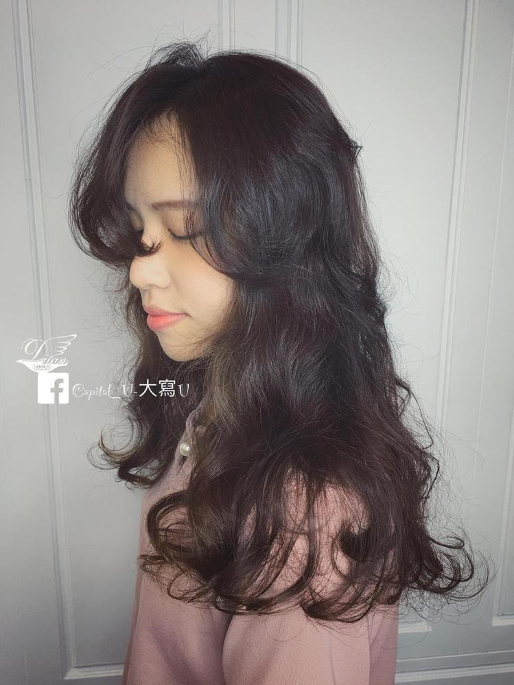 髮型創作/米蘭-大寫U。圖/HairMap美髮地圖提供