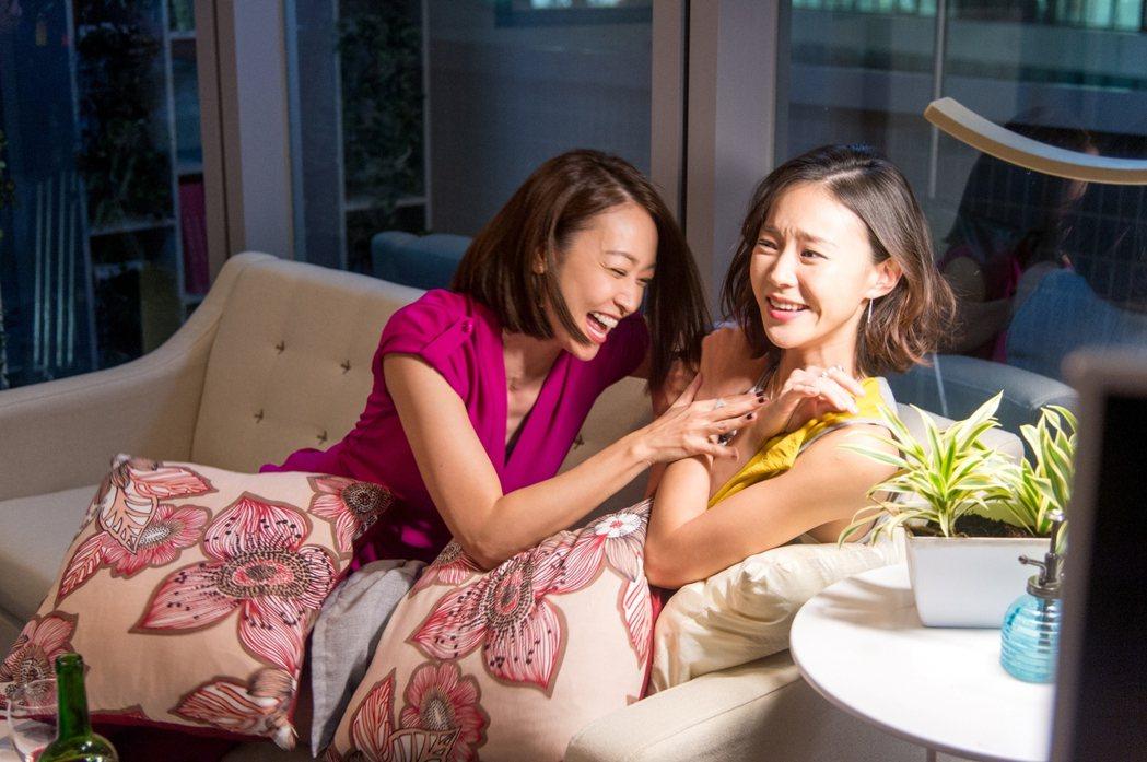 潘慧如(左起)鍾瑶私下感情也好。圖/三立提供