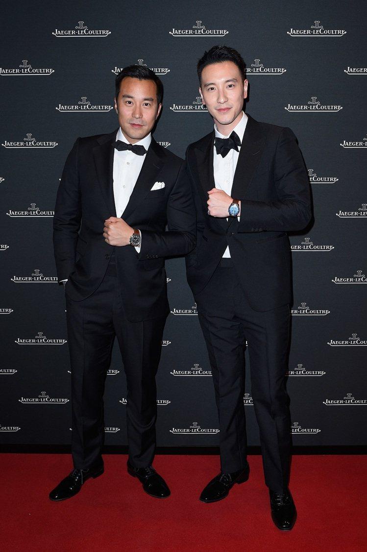台灣的雙帥張孝全及王陽明都選擇了dunhill的禮服,參與積家表晚宴。圖/Jae...