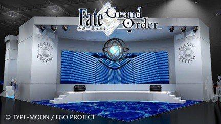 《FGO》2018 TGS活動會場將遊戲內場景實體化(此為3D模擬示意圖)。