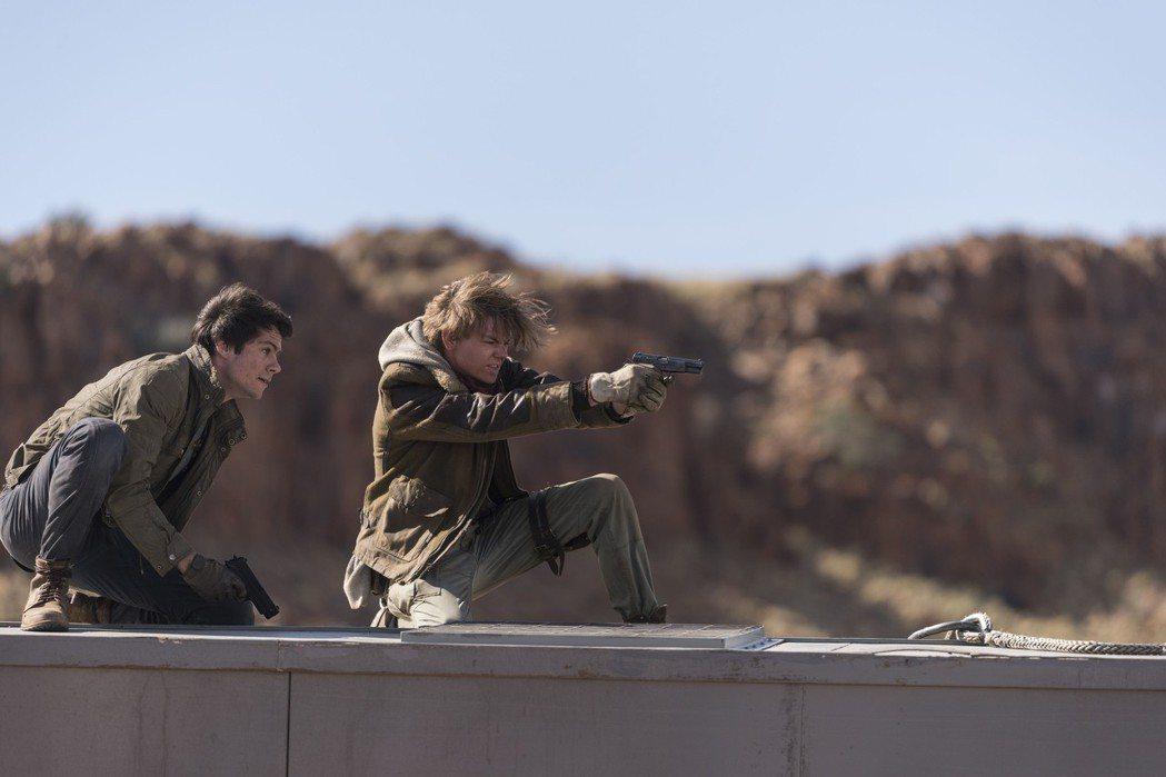「移動迷宮:死亡解藥」有遠比前兩集還要龐大的動作戲。圖/福斯提供