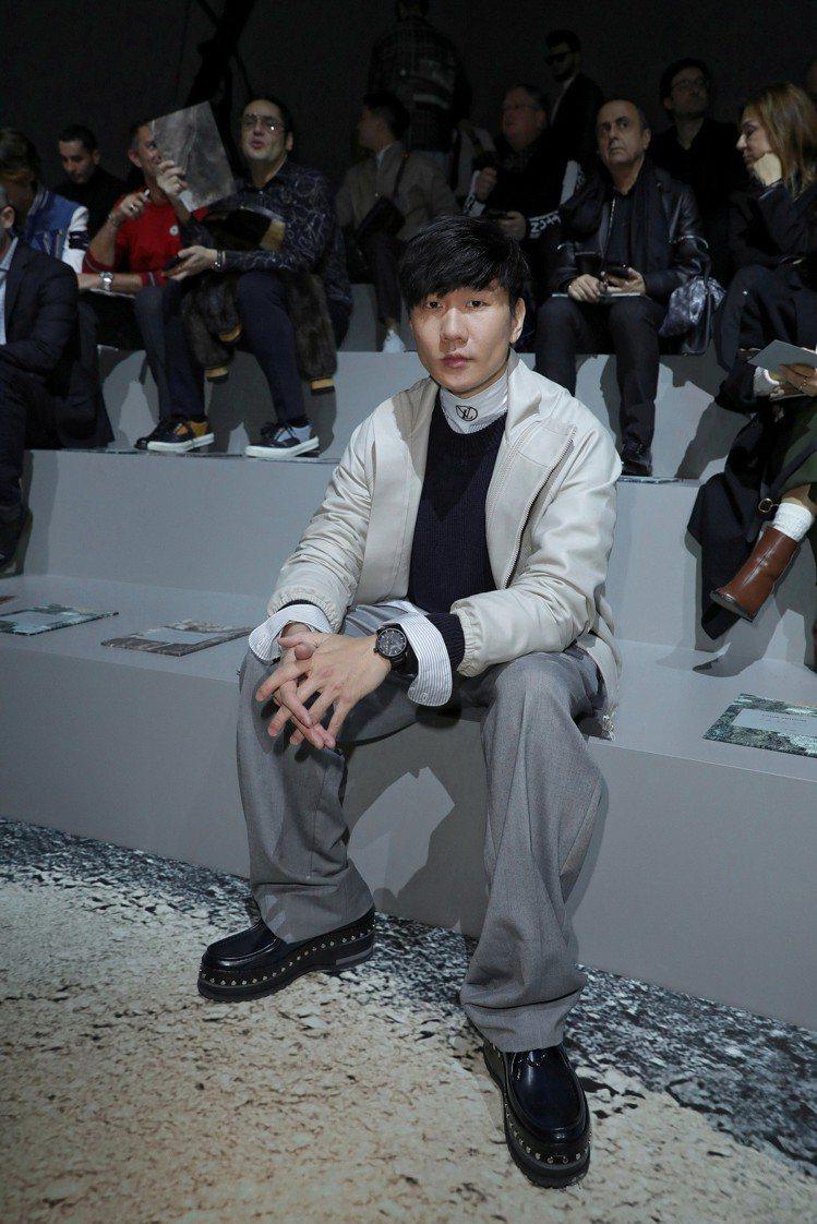 林俊傑是2018秋冬時裝發表的嘉賓之一。圖/LV提供