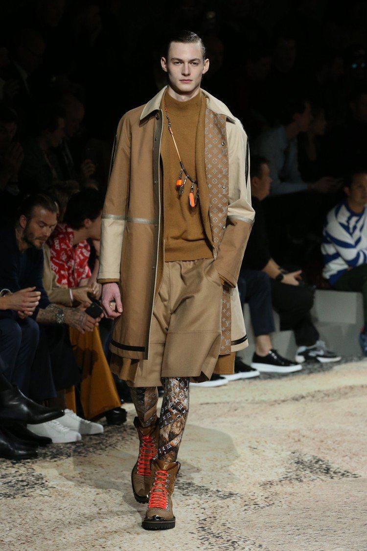 2018秋冬路易威登男裝是優雅而粗獷的自在氣度。圖/LV提供